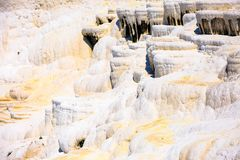 Travertine pools and terraces in Pamukkale Royalty Free Stock Photos