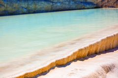 Travertine pools and terraces in Pamukkale Royalty Free Stock Image