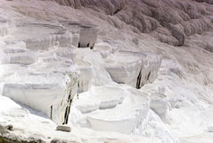 Travertine pools and terraces, in Pamukkale, Turkey Stock Photography