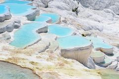 Travertine pools and terraces in Pamukkale, Turkey stock photos