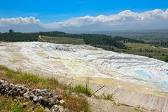 Travertine pools and terraces at Pamukkale, Turkey. Stock Photography