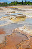 Travertine pools and terraces at Pamukkale, Turkey. Royalty Free Stock Images