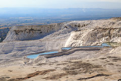 Travertine Pools and Terraces Royalty Free Stock Images