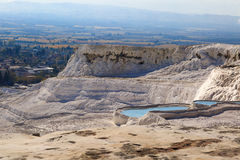 Travertine Pools and Terraces Stock Images