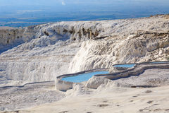 Travertine Pools and Terraces Stock Photography