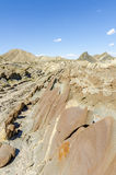 Travertine rock formation in the Tabernas desert Royalty Free Stock Photography