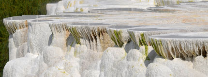 Travertine rock formations in Egerszalok (Hungary) Royalty Free Stock Photography