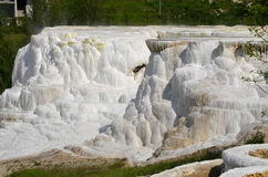 Travertine rock formations in Egerszalok (Hungary) Stock Photos