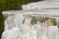 Travertine rock formations in Egerszalok (Hungary) Stock Images