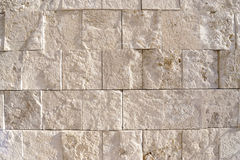 Travertine rock wall. Authentic travertine rock wall, from Italy Stock Photo