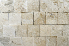 Travertine rock wall. Authentic travertine rock wall, from Italy Stock Photography