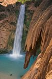 Travertine Rocks and Mooney Falls Stock Image