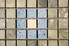 Travertine square colorful mosaic. Travertine square colorful blue mosaic Stock Image