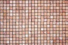 Travertine square colorful mosaic. Travertine square colorful orange mosaic Stock Image