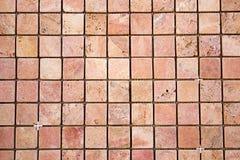 Travertine square colorful mosaic. Travertine square colorful orange mosaic Royalty Free Stock Photos