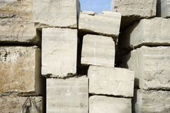Travertine stone. Royalty Free Stock Photos