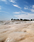 Travertine teracces in Pamukkale Stock Photo