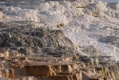 Travertine terraces stock photos