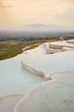 Travertine terraces filled with water Stock Photography