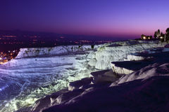 Travertine terraces in Pamukkale Royalty Free Stock Images