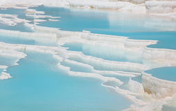 Travertine terraces in Pamukkale Stock Image