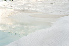 Travertine terraces at Pamukkale Royalty Free Stock Photo