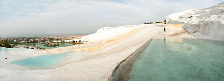 Travertine terraces at Pamukkale Stock Image