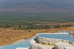 Travertine terraces in Pamukkale, Turkey Royalty Free Stock Photography