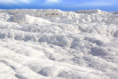 Travertine terraces in Pamukkale Turkey Stock Image