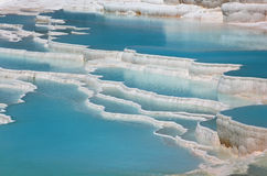 Travertine terraces in Pamukkale, Turkey Stock Photo