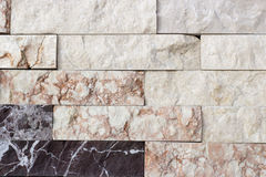 Travertine tile, brick building material color Royalty Free Stock Photo