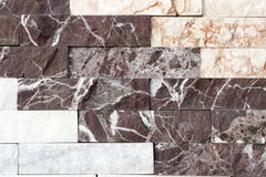 Travertine tile, brick building material color Stock Photos