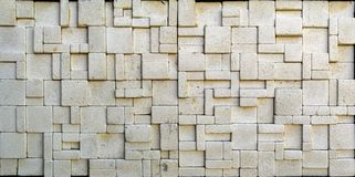 Travertine tile ceramic, mosaic square design seamless texture. Background stock photo
