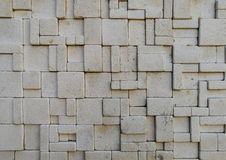 Travertine tile ceramic, mosaic square design seamless texture. Background stock images