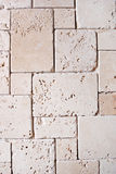 Travertine tiled wall Royalty Free Stock Photos
