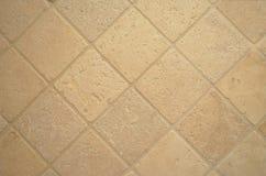 Travertine tiles. Yellow, beige, light brown travertine stone tiles Royalty Free Stock Photography