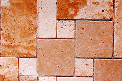 Travertine tiles  texture Stock Image