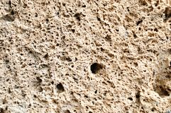 Travertine wall Stock Image
