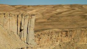 Travertinen vaggar bildande som en klippa med öknen arkivfilmer
