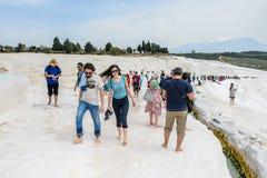 Travertines av Pamukkale, Turkiet royaltyfria bilder