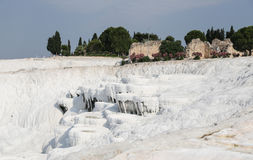 Travertines i Pamukkale Arkivbilder