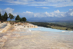 Travertines, nature wonder in Pamukkale, Turkey Stock Image