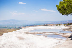 The travertines of Pamukkale Stock Photography
