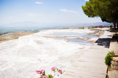 The travertines of Pamukkale Stock Photos