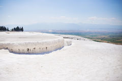 The travertines of Pamukkale Stock Image