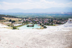 The travertines of Pamukkale Royalty Free Stock Photo