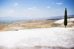 The travertines of Pamukkale Stock Photo