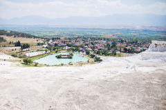The travertines of Pamukkale Royalty Free Stock Photography