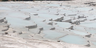 Travertines in Pamukkale. Cotton Castle, Denizli, Turkey Stock Image