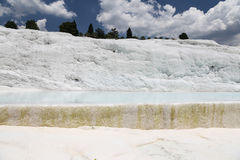Travertines in Pamukkale Royalty Free Stock Photos